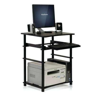 400x400 Picturesque Espresso Computer Desk Ideas Credenza Work Center With