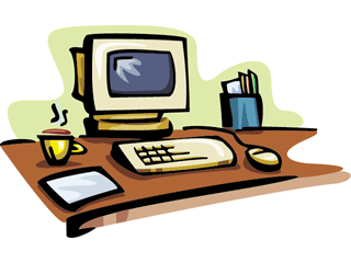 320x240 Screen clipart office computer