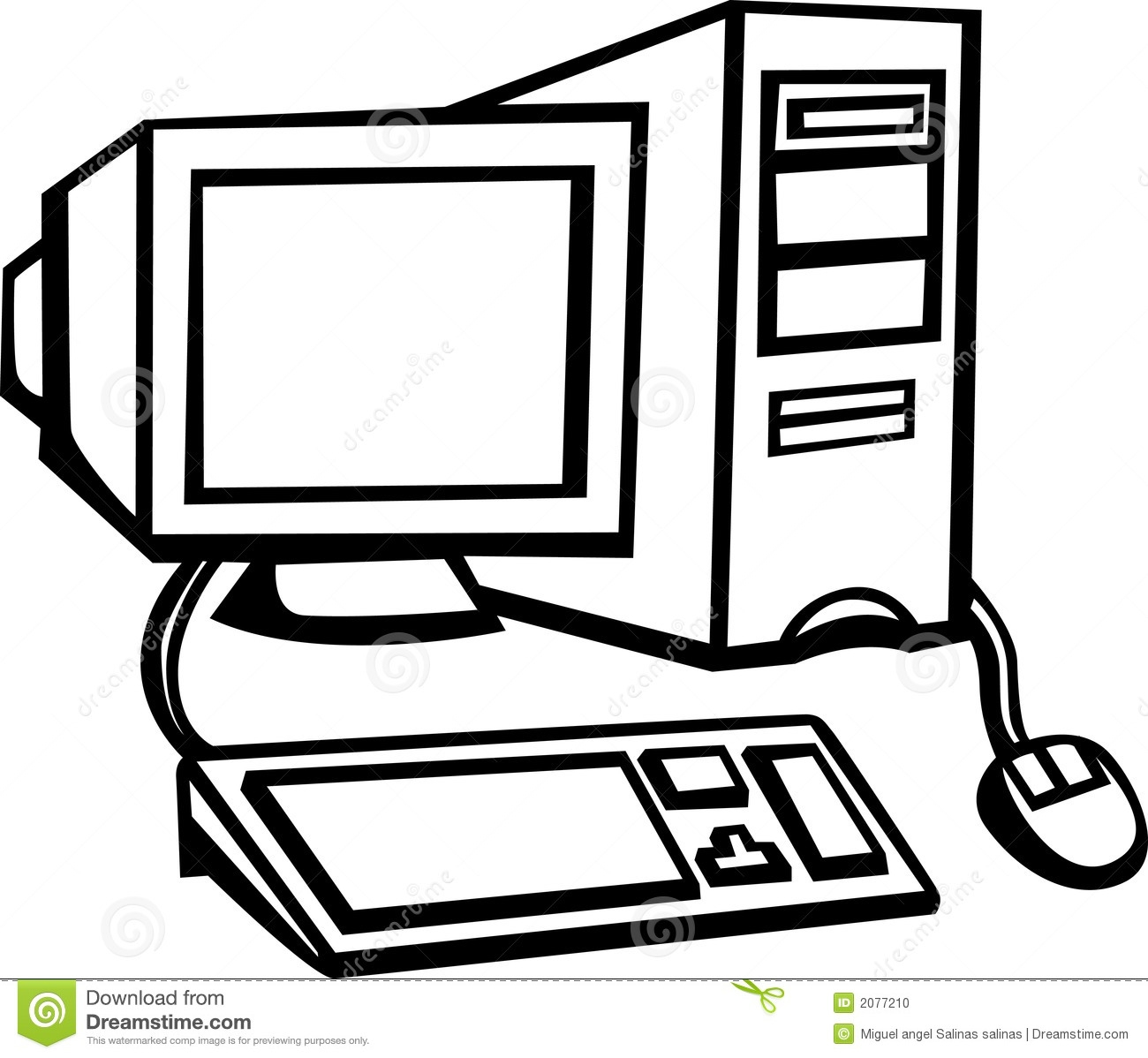 1300x1198 Computer Clipart Black And White
