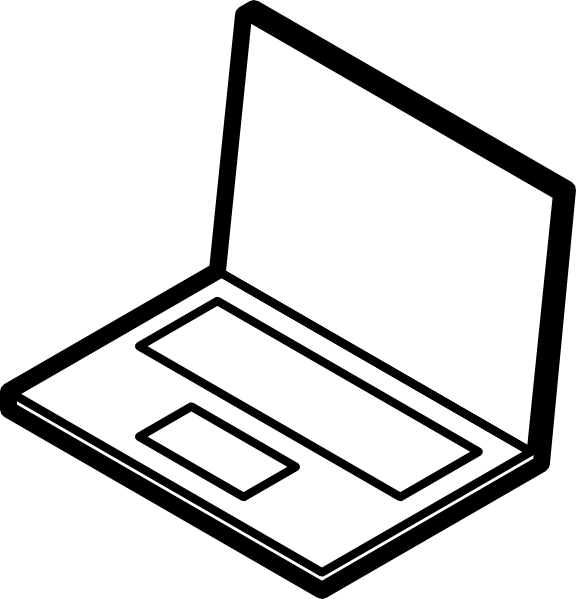 Computer Clipart Black And White