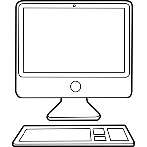 300x300 Computer black and white computer clipart black and white free