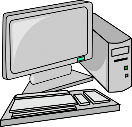 425x409 Computer black and white computer training clipart free download