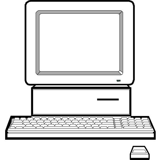 562x560 Computer clipart black and white free images 2