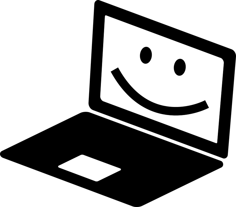 821x720 Computer clipart smile