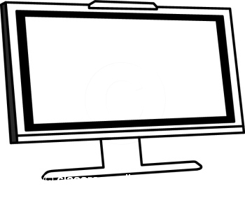 350x293 Display clipart black and white