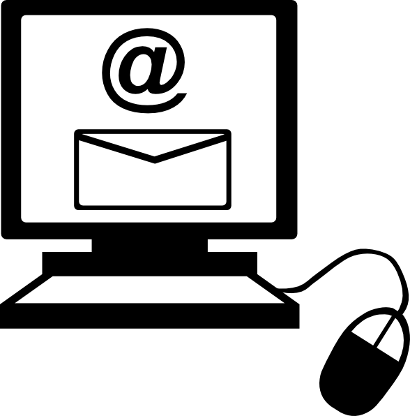 588x596 Email On Computer Clip Art