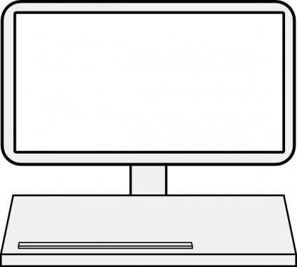 425x382 Computer Screen Clipart Black And White Letters Example