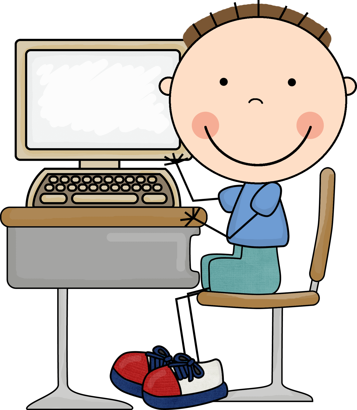1461x1681 Computer clipart for kid png