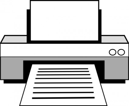 425x349 Free Computer Clipart Black And White Image