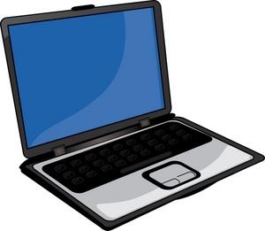 300x261 Laptop Clipart Image