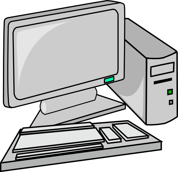 600x578 Computer Clipart Black Png