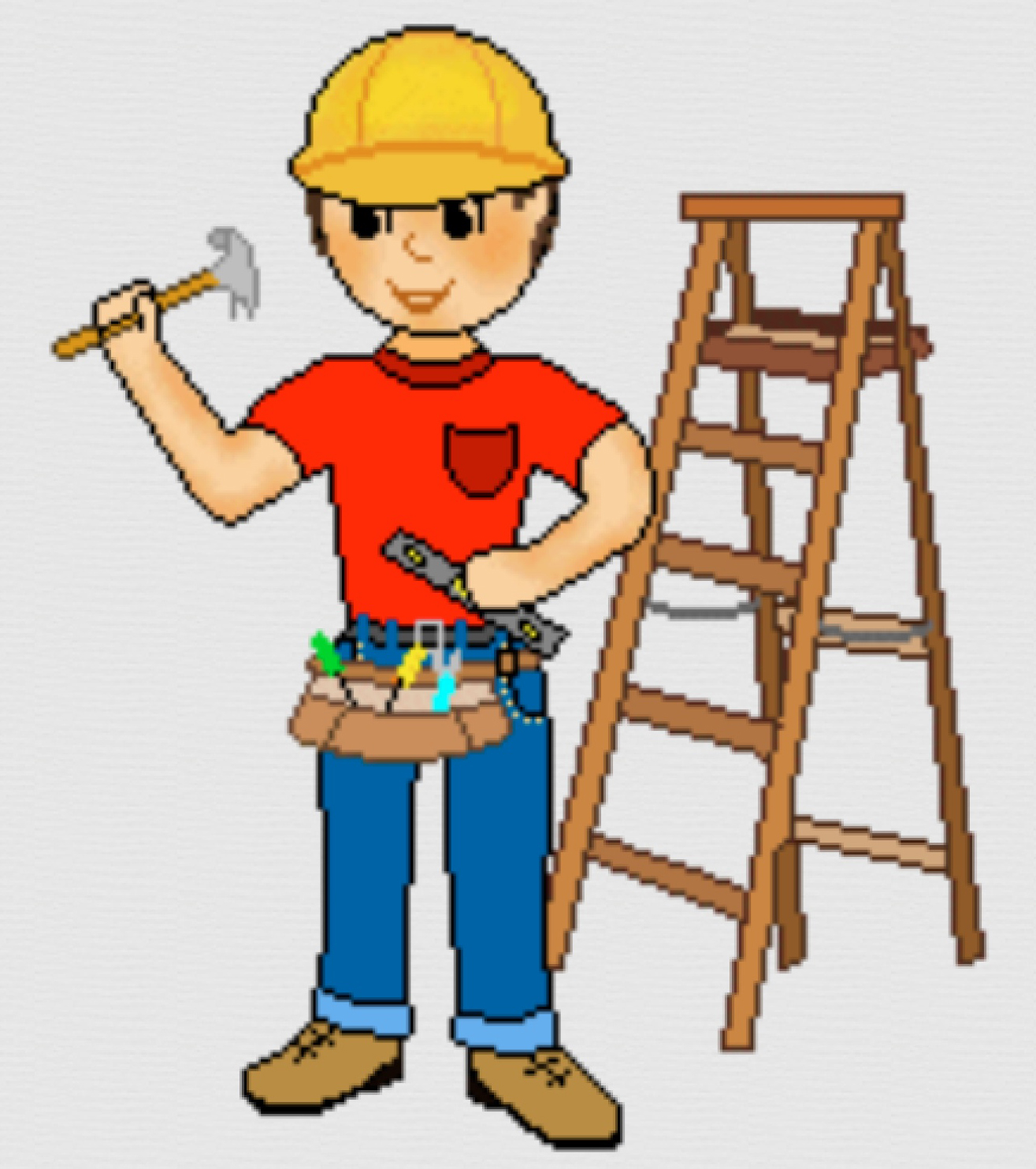 1315x1483 Computer Clipart Construction Worker