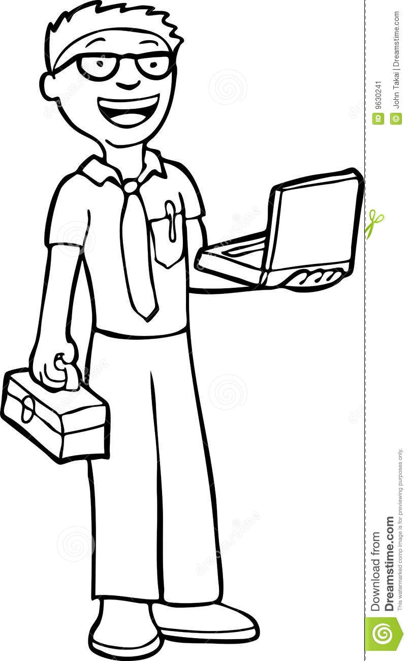 807x1300 Computer Engineer Clipart Black And White