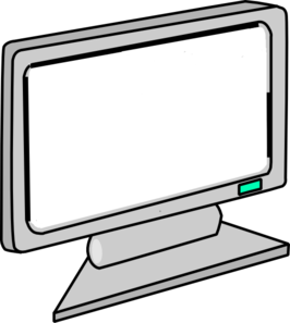 266x297 Blank Screen Computer Monitor Clip Art