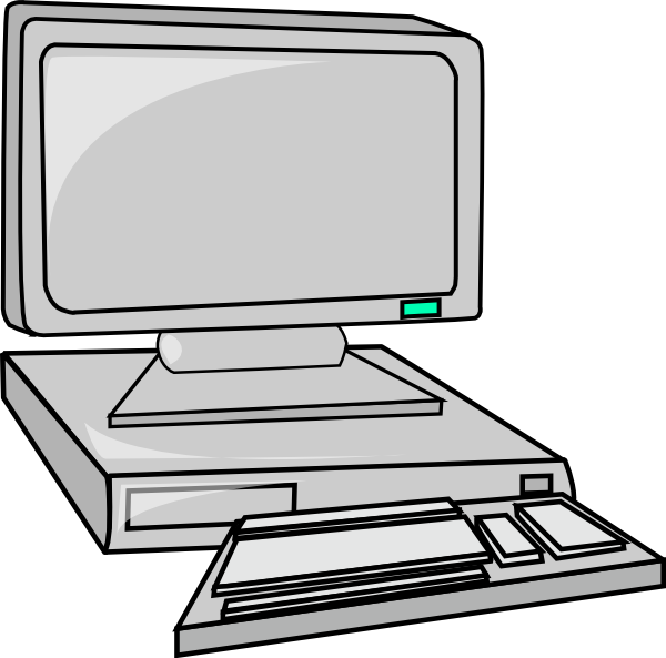 600x593 Desktop Computer clip art Free Vector 4Vector