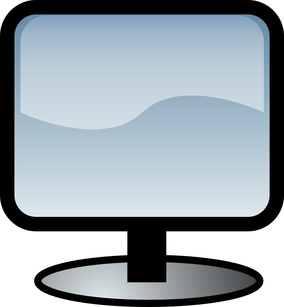 926x1000 Free Computer Clipart Image