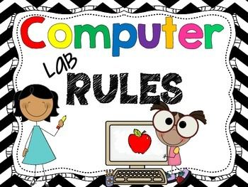 350x263 Computer Lab Rules 16 Posters For A Technology Lab Computer Lab