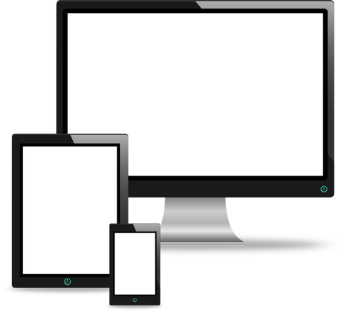 Computer Monitor Clipart Black And White
