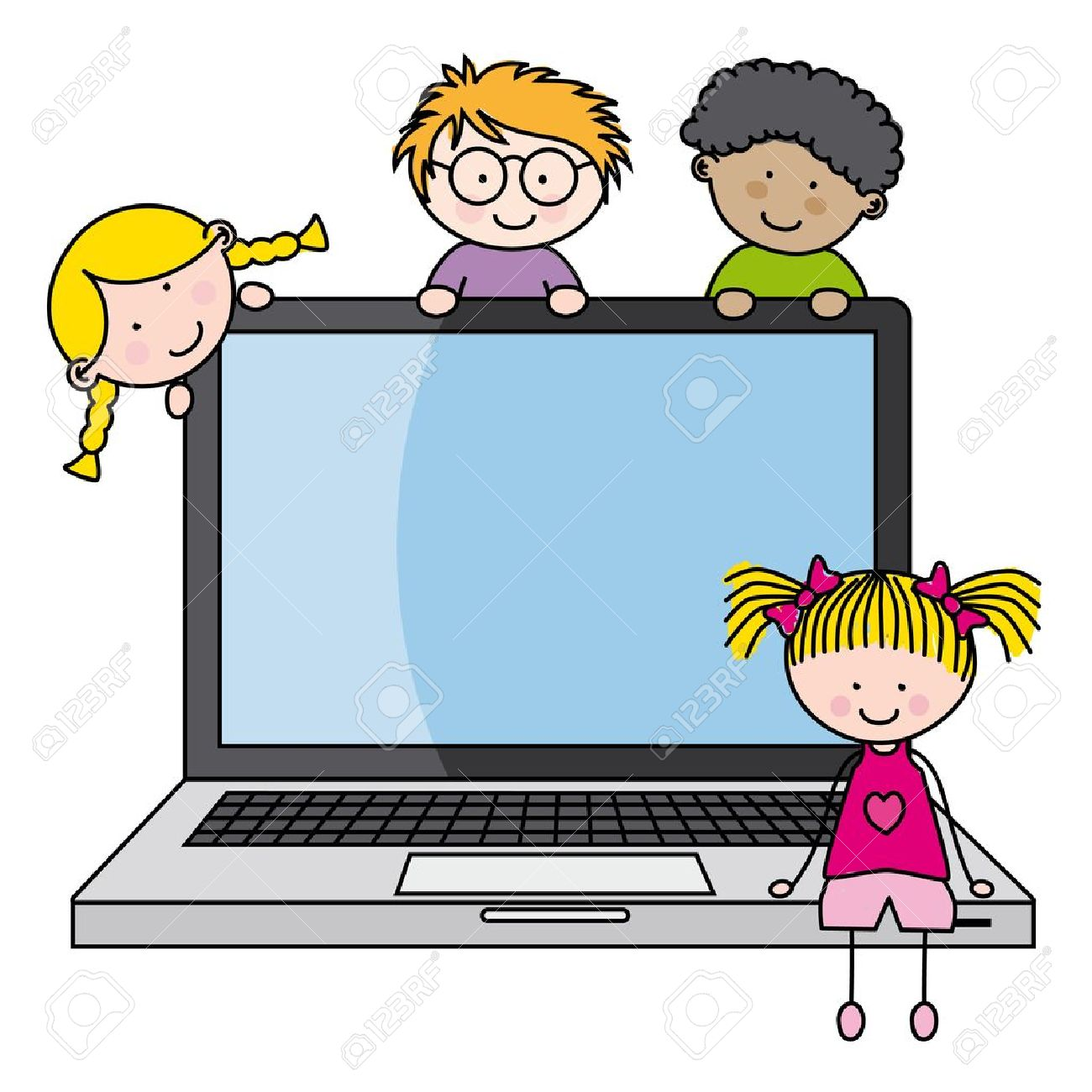 1300x1300 Computer Clipart Child Computer