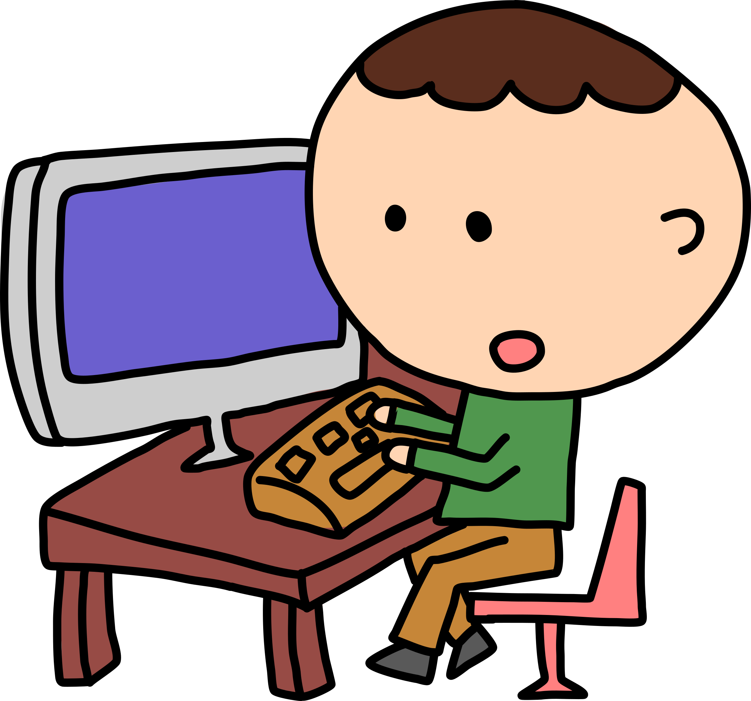 2400x2241 People Clipart Computer