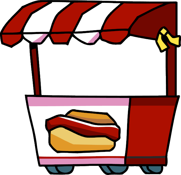 635x613 Hot Dog Clipart Hot Dog Cart