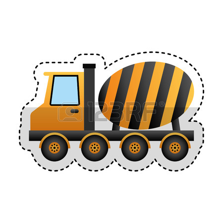 450x450 3,890 Concrete Truck Cliparts, Stock Vector And Royalty Free
