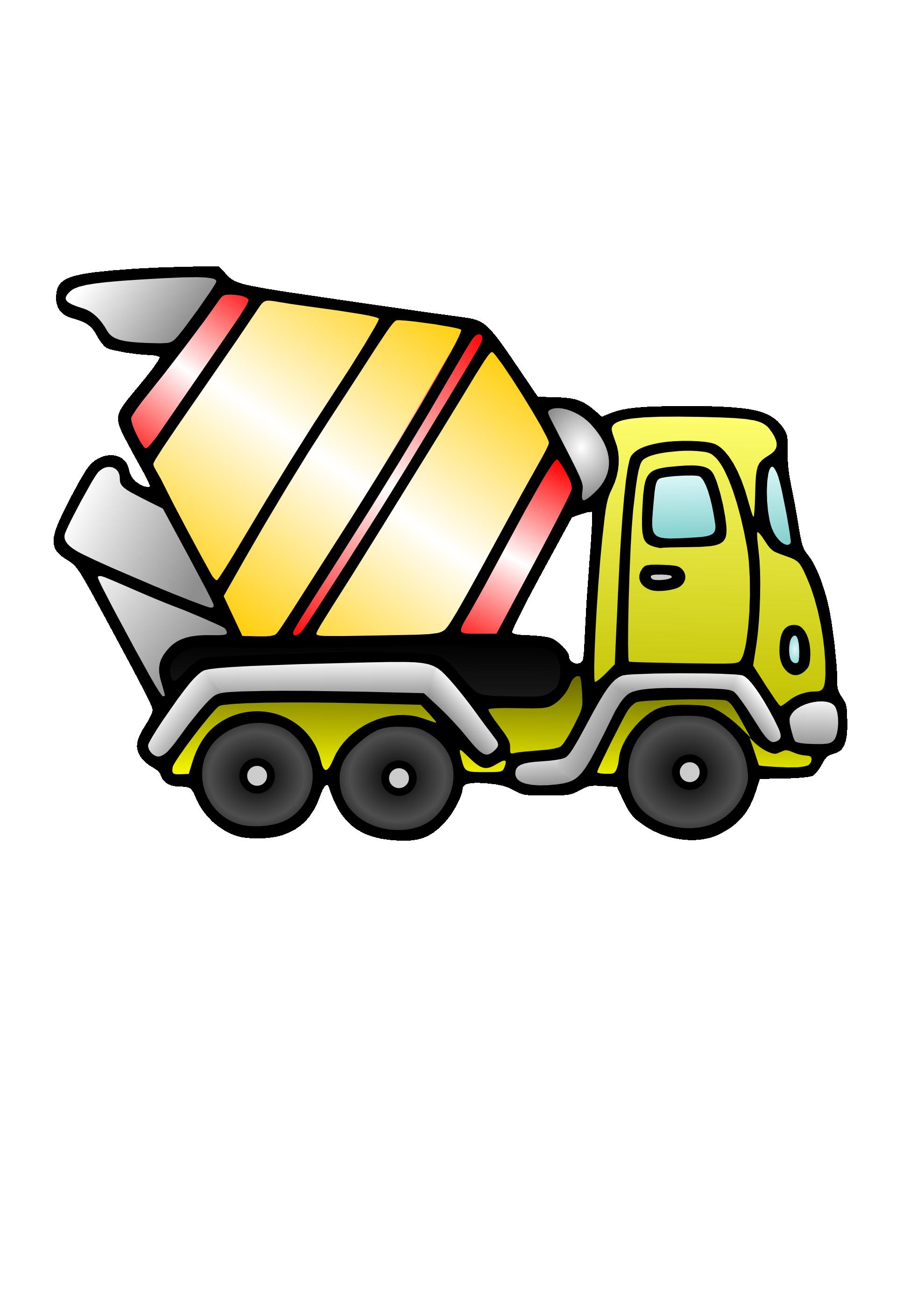 1979x2799 Concrete Mixer Truck Png Clipart