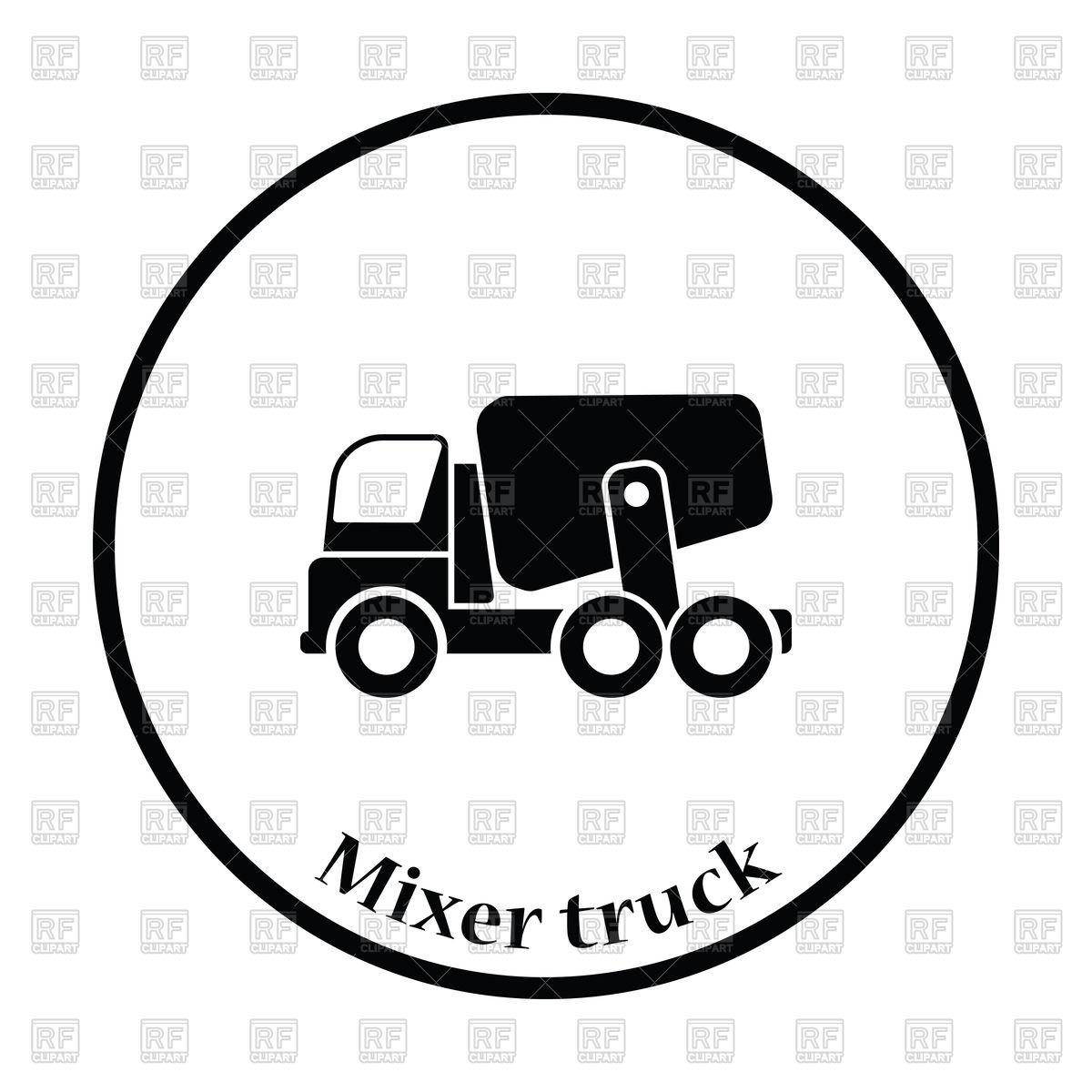 1200x1200 Concrete Mixer Truck Royalty Free Vector Clip Art Image