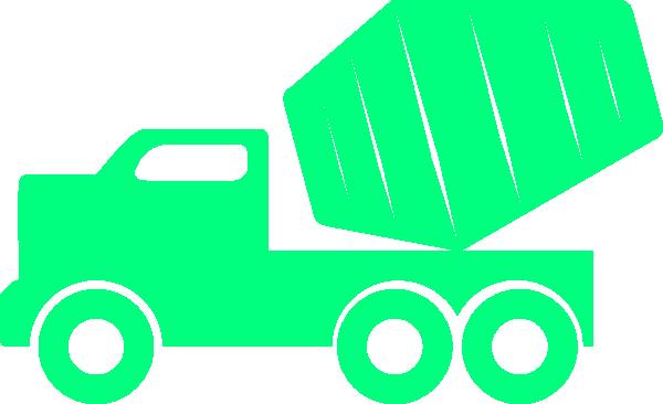 600x366 Green Dump Truck Clip Art