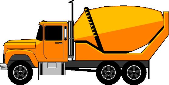 555x281 Cement Mixer Truck Clip Art