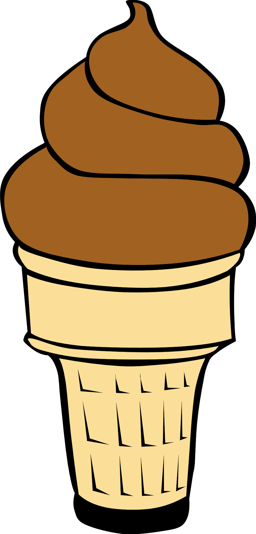 999x2082 Empty Ice Cream Cone Clip Art Free Clipart Images
