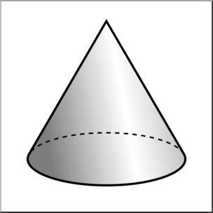 304x304 Clip Art 3d Solids Cone Grayscale I Abcteach