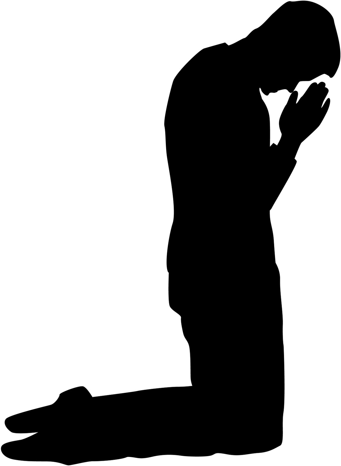 1172x1600 Kneeling Man Prayer Clipart