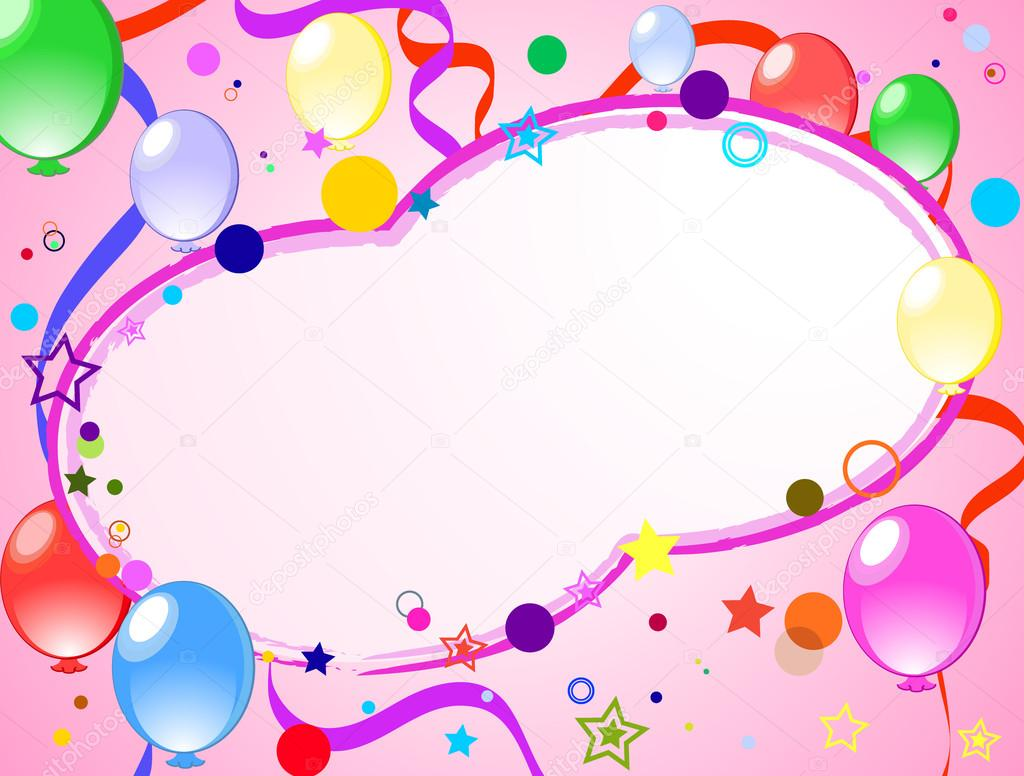 1024x776 Colored Background With Balloons Stock Vector Lentajka
