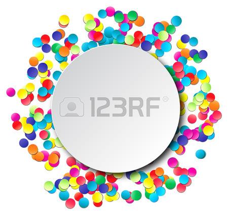 450x423 Colorful Celebration Background With Confetti. Vector Illustration