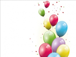 310x233 Colorful Confetti Vector Background For Birthday Celebration