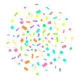 160x160 Colorful Explosion Of Confetti. Vector Illustration. Flat Design