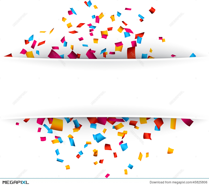 800x713 Confetti Celebration Background. Illustration 45825806