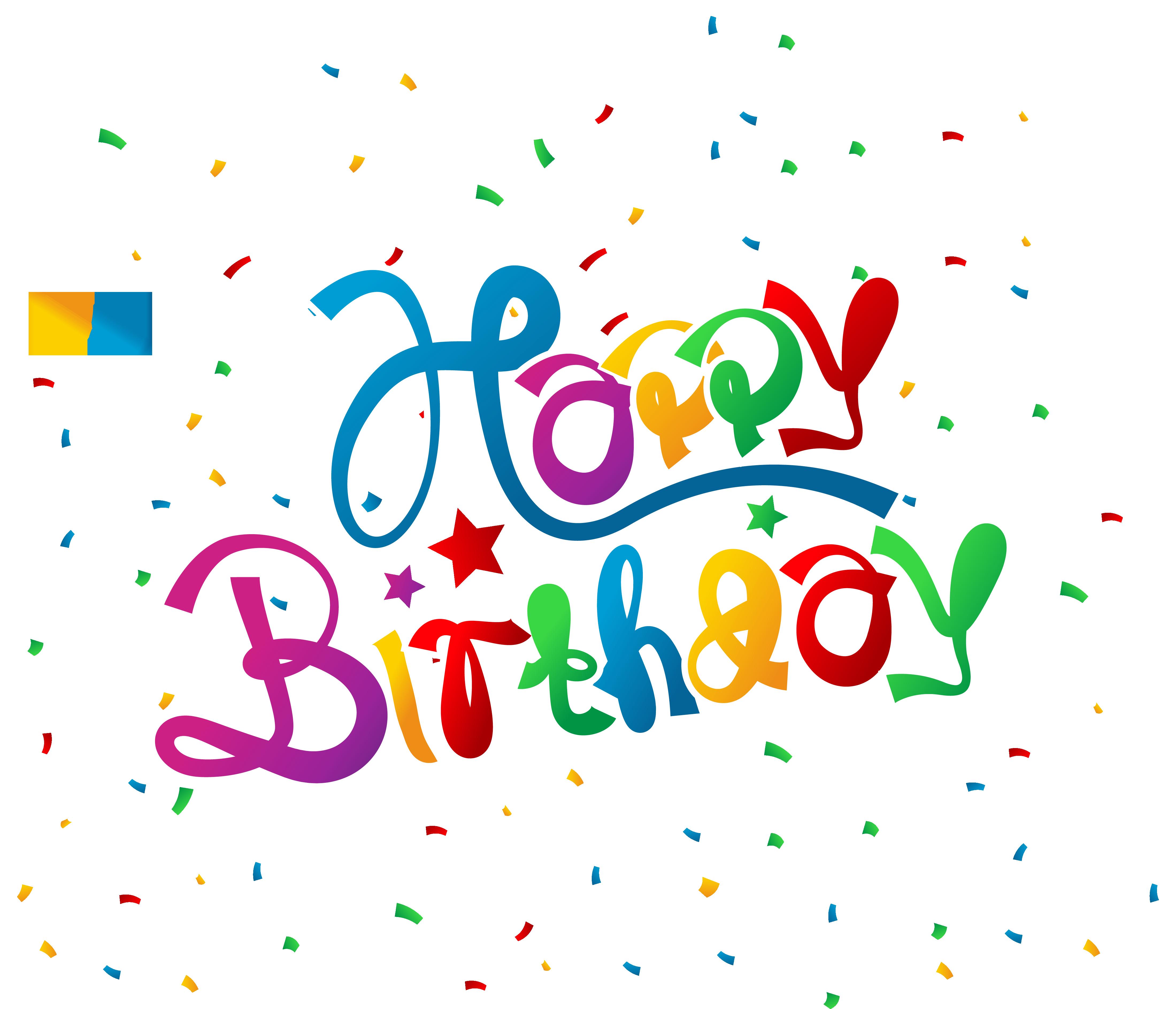 4398x3774 Happy Birthday With Confetti Clipart Picture 5