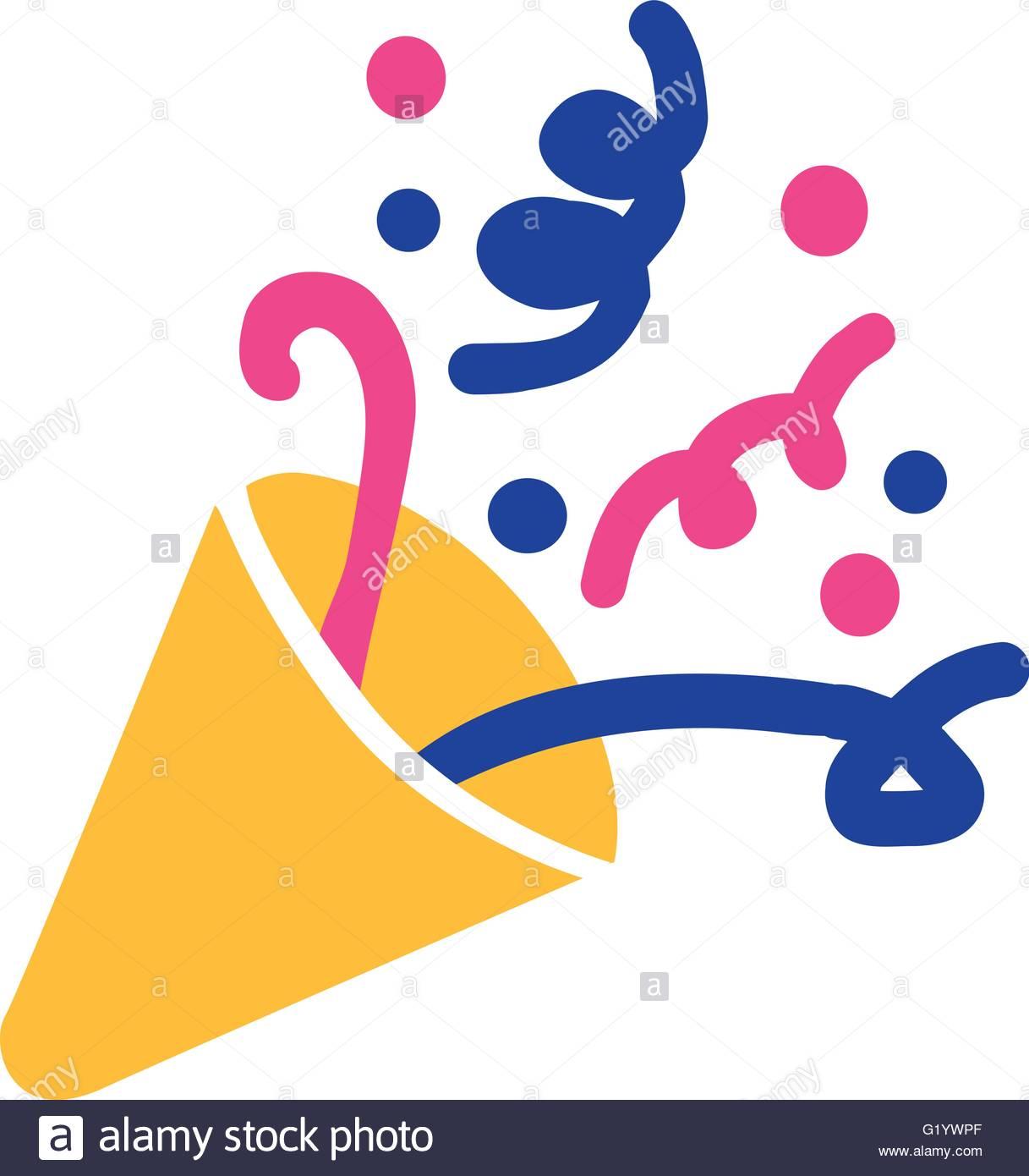 1217x1390 Party Horn Symbol Confetti Stock Vector Art Amp Illustration, Vector