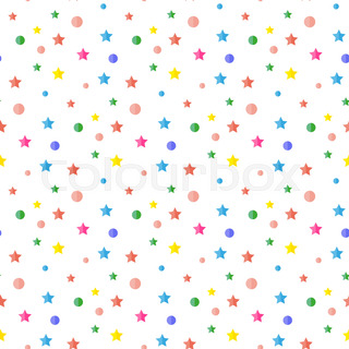 320x320 Serpentine, Tinsel, Sequins, Confetti. Seamless Pattern On White