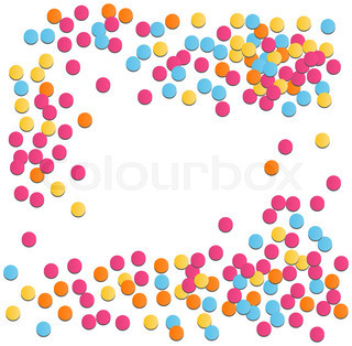 320x314 Vector Illustration Of Colorful Confetti On White Background