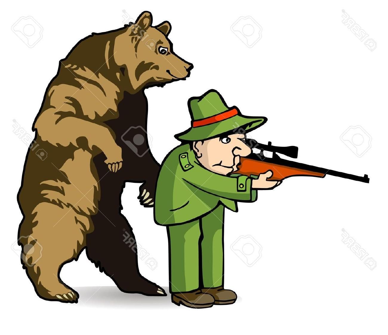 1300x1123 Best Free Bear Hunting Clip Art Library