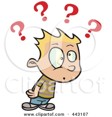 450x470 Royalty Free (Rf) Clip Art Illustration Of A Confused
