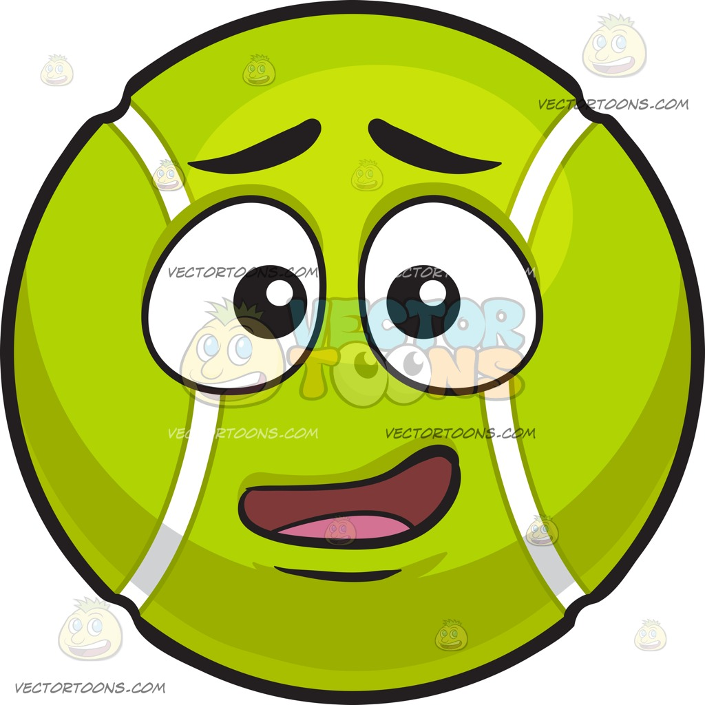 1024x1024 A Confused Tennis Ball Cartoon Clipart