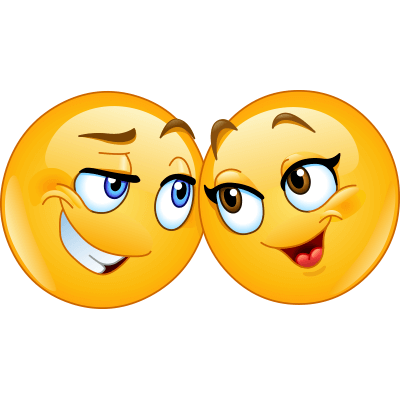 400x400 Emoji Couple Sweet Notes, Smileys And Note