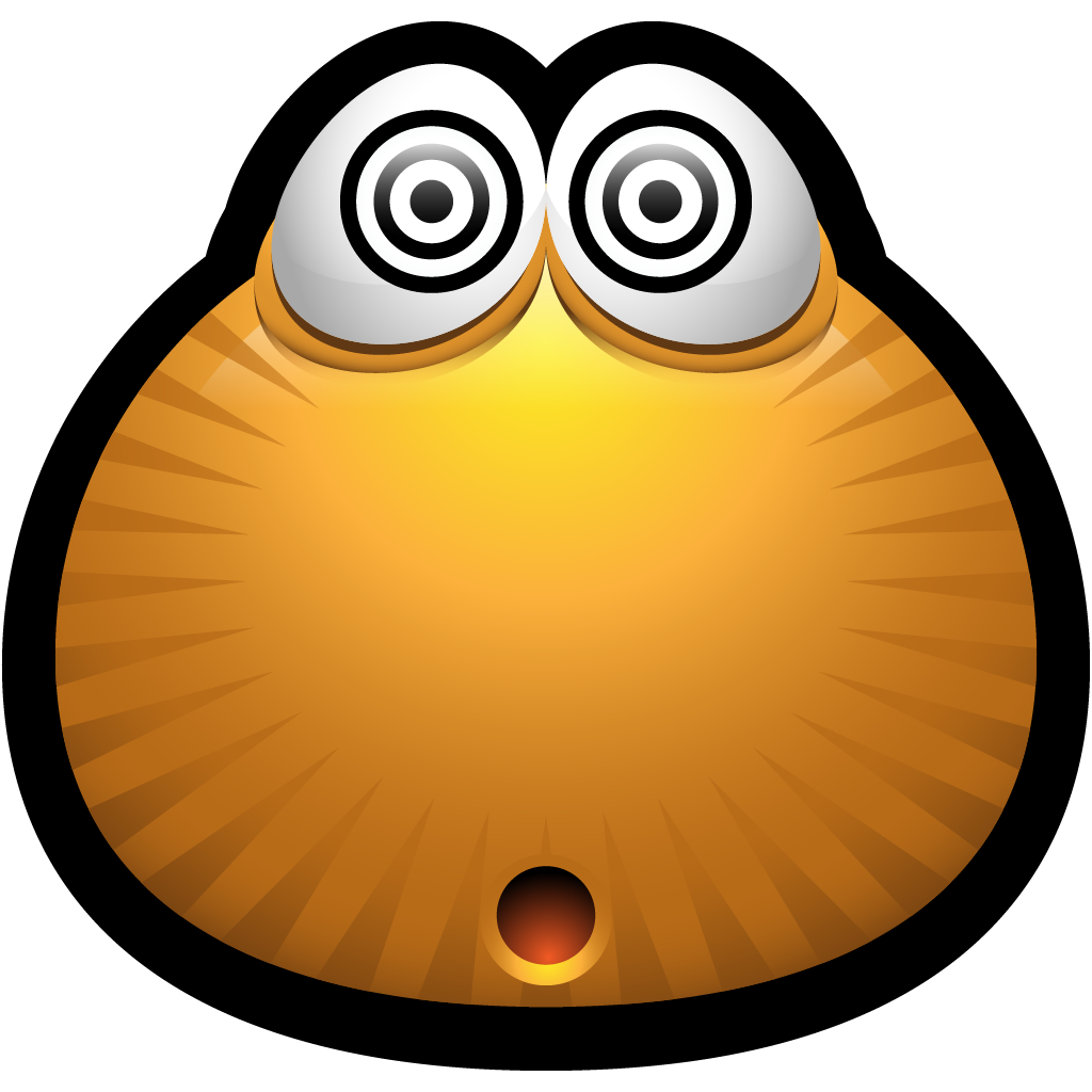 1024x1024 Confused Emoticon Brown Confused Dazed Drugged Emoticon Monster