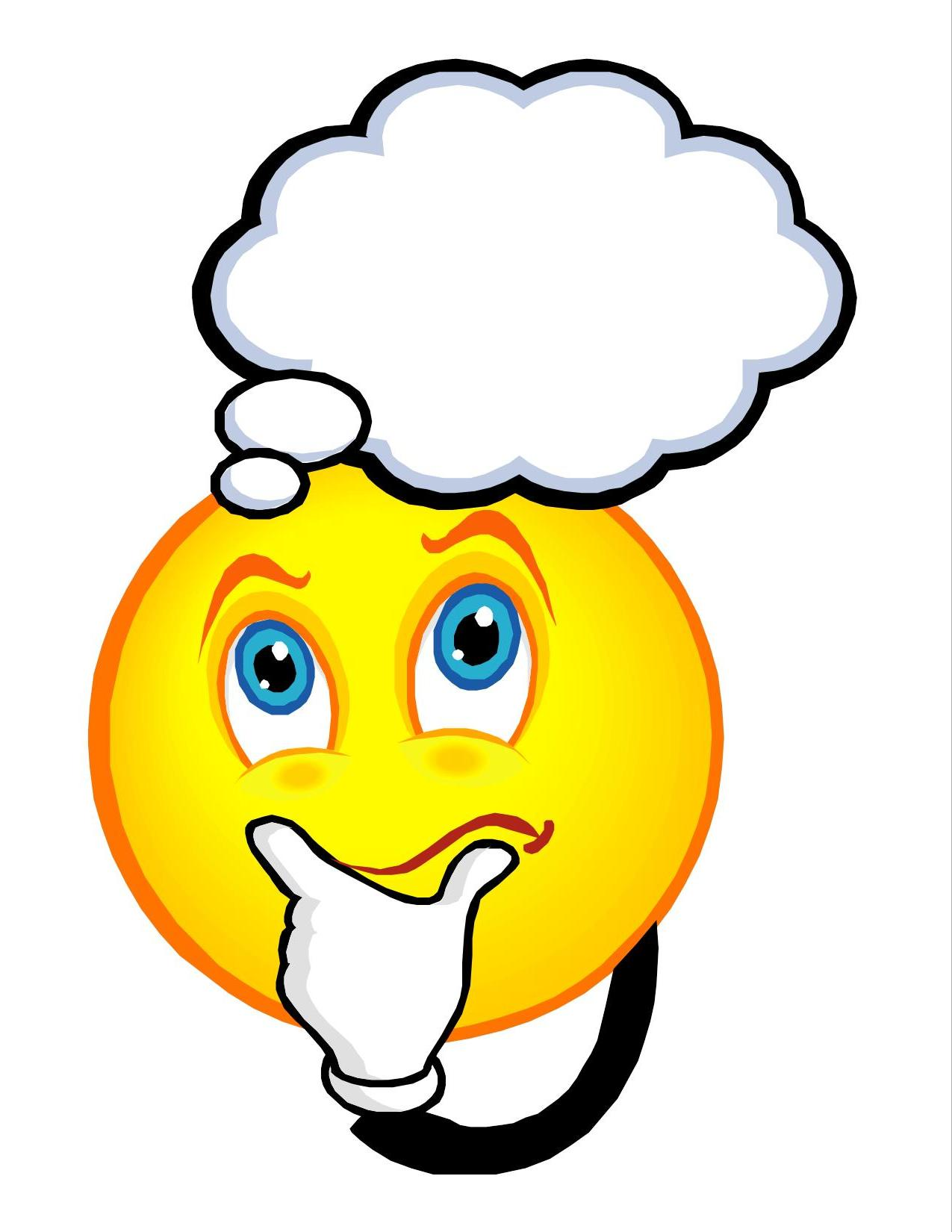 1275x1650 Thinking Face Clipart