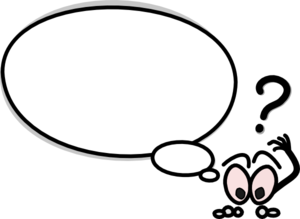 300x219 Speech Bubble With Confused Person Clip Art