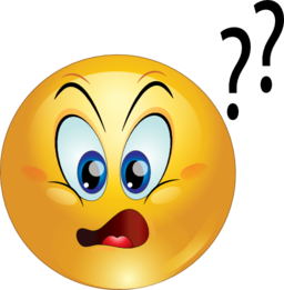 256x261 Smiley Clipart Confused